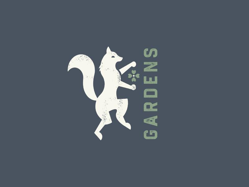 Garden Fox identity garden flower fox logo illustration branding