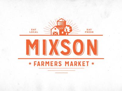 Farmers Market branding logo farmers market typography farm food vintage