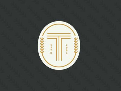 Tavern monogram typography seal circle branding logo wheat badge