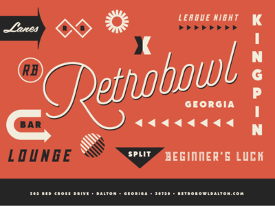 Retrobowl  typography bowl retro