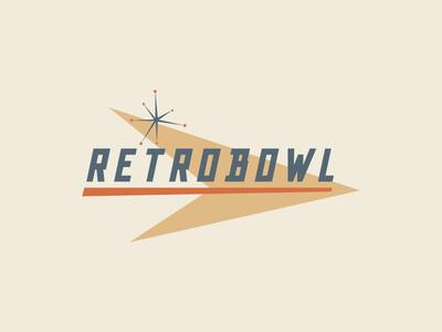 Retrobowl bowling logo retro mid-century typography
