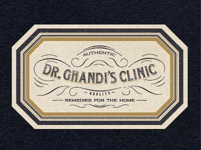 Dr. Ghandi hang tag vintage frames ornate