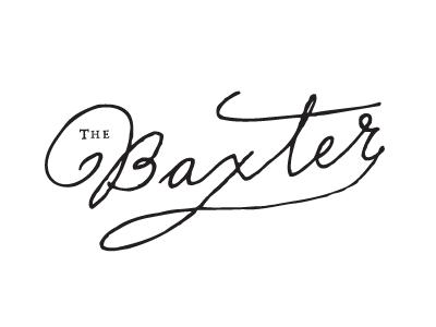 The Baxter logo branding script vintage handwritting signature ink pen