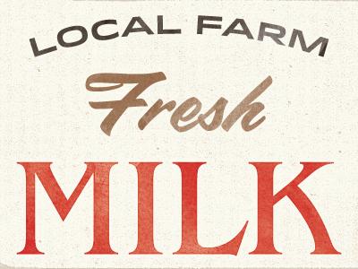 Fresh Milk idlewild vintage grocery branding typography