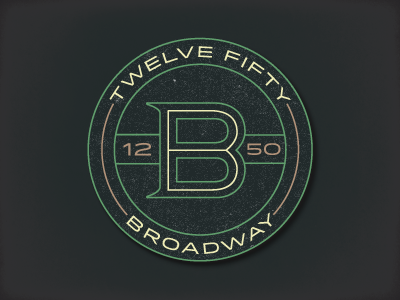 1250 logo seal circle typography branding monogram quimby idlewild