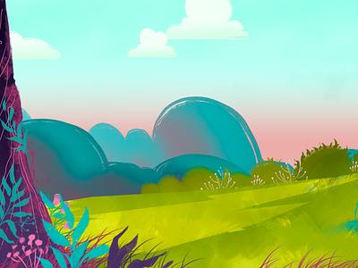 Summer location location cartoon illustration design