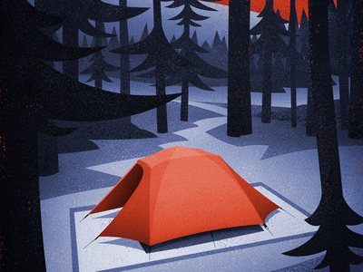 A Break in the Trees #2 retro vintage canadian artist explore hiking camping illustration graphic design vector art digital illustration