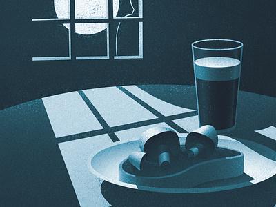 Meal at Midnight digital illustration digital art graphic design illustration vintage canadian artist retro