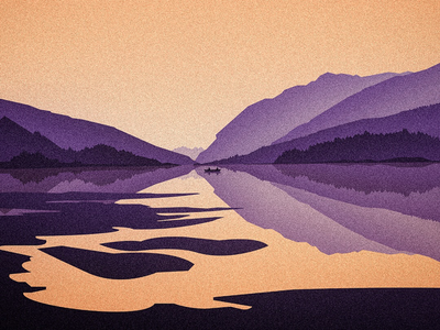 Up early yeg canadian artist mountains fishing editorial outdoors nature digital art illustration