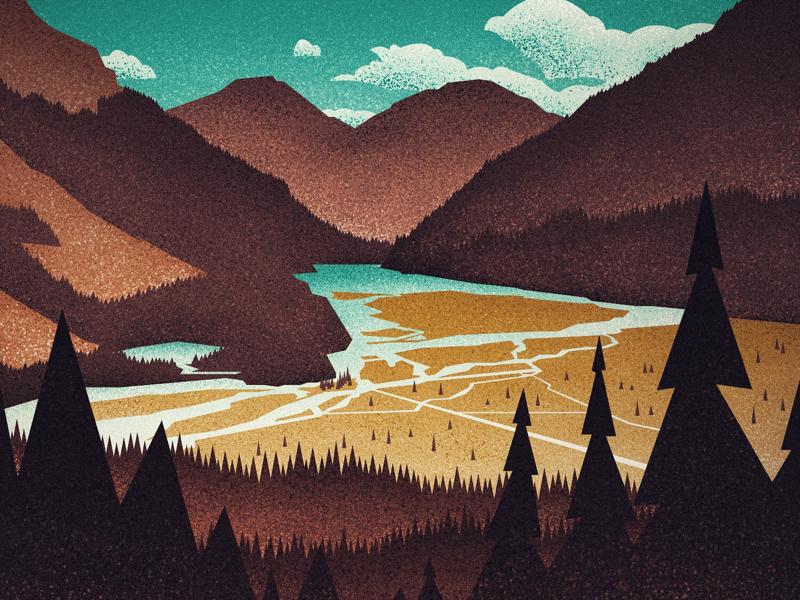 Kinney Lake, Berg Lake Trail
