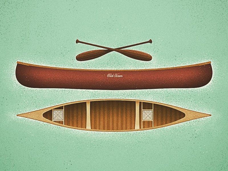 Old Town canoe by Terry Edward Elkins on Dribbble