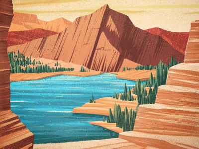 Almost there canadian artist nature graphic design explore mountains landscape illustration digital art