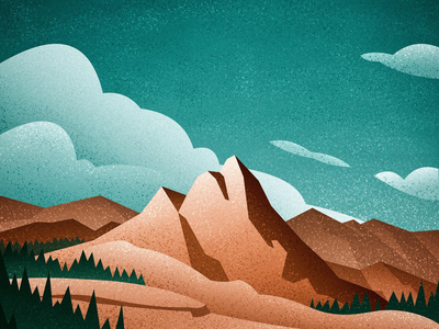 Exploring the Great Outdoors vector art vintage large format canadian artist exploration youth church mountains nature outdoors