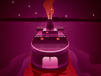 Night Ferry to Death canadian artist vector art retro vintage cover art fiction murder mystery