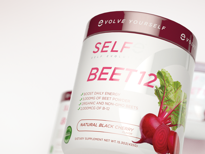 SELFe BEET 12 Energy Powder Packaging natural energy vitamins selfe 3d rendering 3d render packagingdesign packaging beet