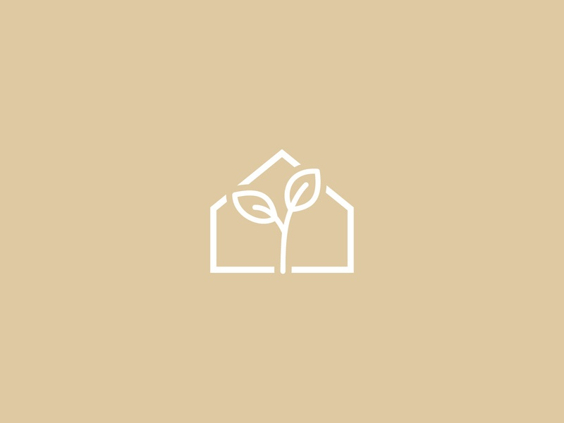 Growing House house logo seeds house icon nature seedling seed growing house