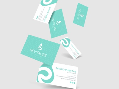 Revitalize IV Lounge Business Cards hydration water drip ivdrip revitalize typography logo branding
