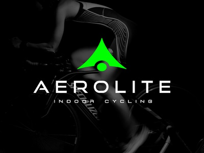 Aerolite Indoor Cycling neon green branding typography logo design logo workout green cycling fitness aerolite