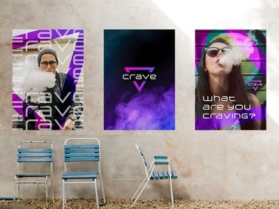 Crave Ads crave vice miami vice miami purple smoke shop vape smoke pink neon