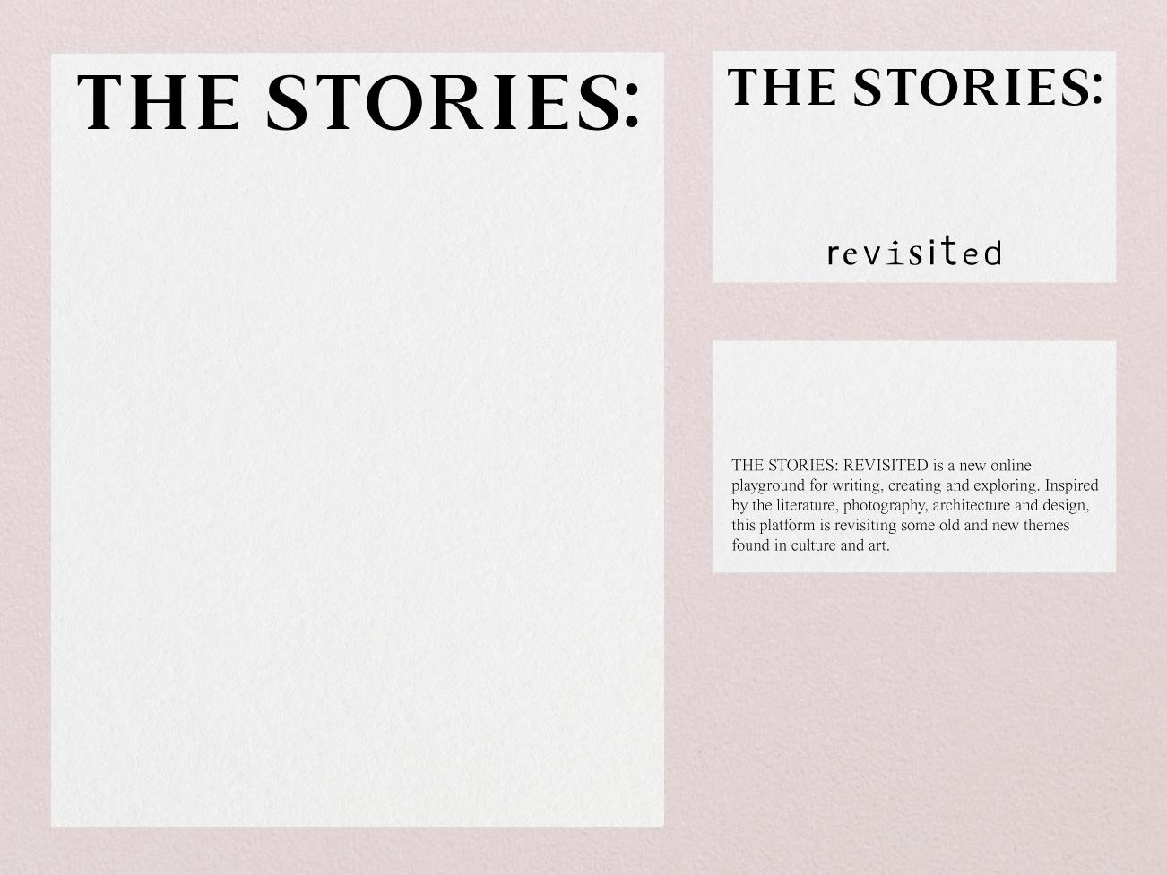 THE STORIES: REVISITED by Vencho Miloshevski on Dribbble