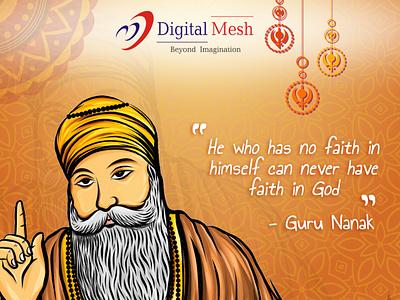 Happy Guru Nanak Jayanti! thankyou illustration guru