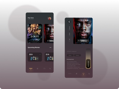 Cinema Book App mobile app design uı mobile