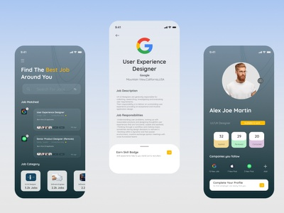 Find Your Job mobile ui mobile design mobile app design mobile