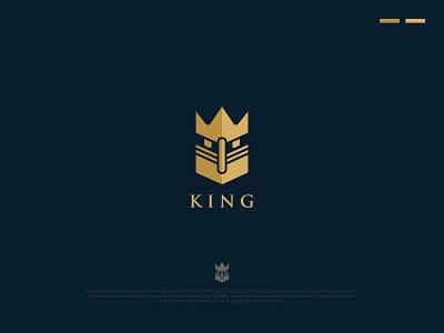 Luxury King Jewelry Logo Design Concept jewelry shop gold logo jewelry logo king logo luxury logo brand logo unique logo logos design logo designer logo design branding logo design branding creative logo logo