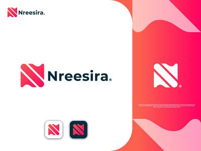 N Plus S Letter Logo Design Concept For Nreesira company logo colorful logos s letter logo n letter logo letter logo gradient logo colorful logo branding unique logo logo design branding brand logo creative logo logo design logo