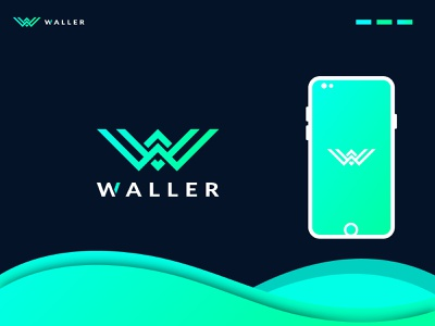 W Letter Logo Mark For WALLER w w letter letter modern creative gradient concept colorful company app icon design unique logo branding brand identity design logo design