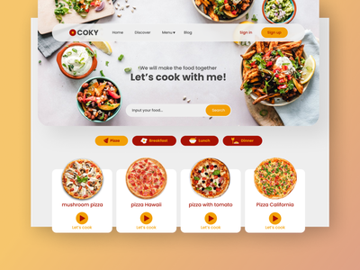 COKY - Cooking web website web design ux ui