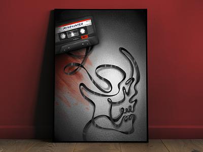 Netflix and Chills true crime poster procreate netflix mindhunter ipad pro digital illustration david fincher criminal profiling cassette