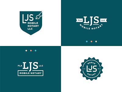LJS Logo Concepts vector notary wordmark branding small business logos logo