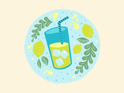 Lemon on a Prayer blue summer floral lemon illustration icon lemonade my fiancée hates this pun