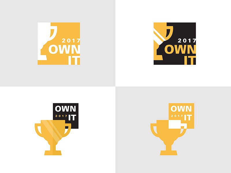 Own It corporate logo corporate event 2017 own it vector trophy event branding logo logos