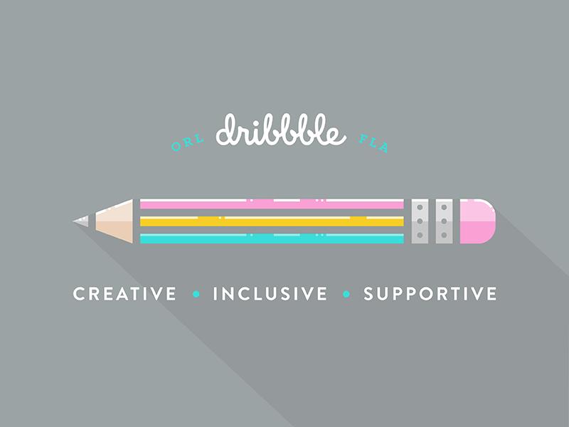 Pride pencil rainbow lgbt design lgbt orlando dribbble pride