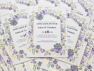 Wedding Invitations Detail