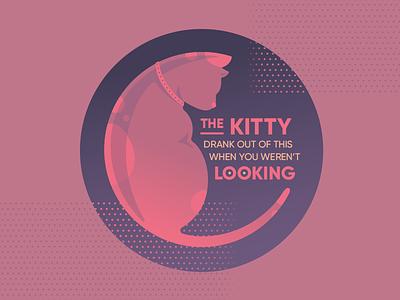 My Cat is a Jerk sticker mule vector illustration vector typography kitty illustration coaster cat