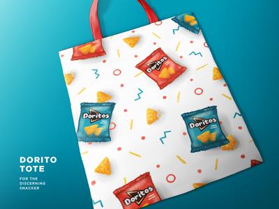 Doritote textile snacks retro pattern procreate ipad pro illustration doritos dorito apparel 90s
