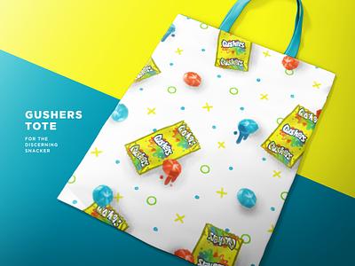 Gushers Tote tote bag tote nostalgia procreate ipad pro illustration snacks snack gusher apparel