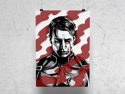 O Captain steve rogers procreate ipad pro illustration poster disney superheroes marvel america captain america
