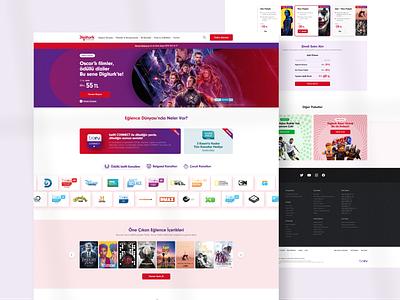 Digiturk - New Entertainment LP productpage web site concept web clean ux ui
