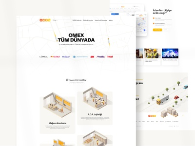 Omex Logistics - Home Page illustration home page productpage concept web minimal ux ui
