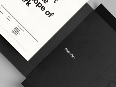 Letter Paper — Agency Branding simple logotype clean logo design identity digitalpark branding