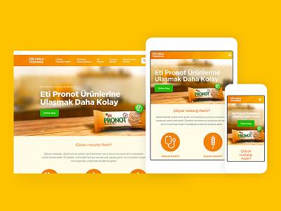 Eti Pronot web site web interaction home page content concept ux ui