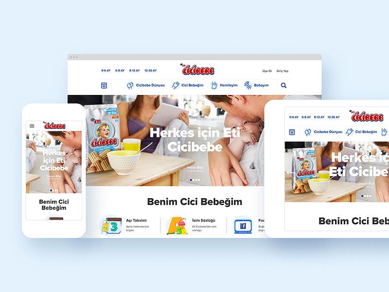 Eti Cicibebe — Digital Platform ui ux concept content home page interaction web web site
