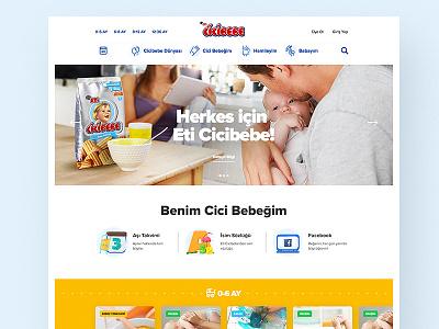 HomePage — 👶 Eti Cicibebe web site web interaction home page content concept ux ui