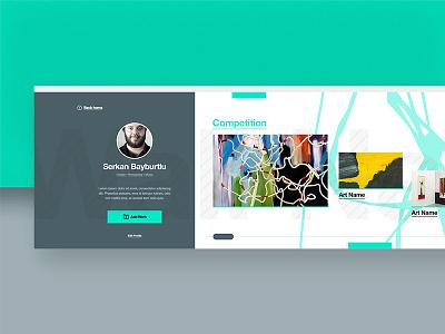 Sanata Bi'yer — Profile clean minimal product productpage new typography ui ux visual design website
