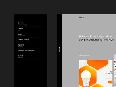 New Portfolio Site (Live) website design visual ux ui typography portfolio new minimal clean