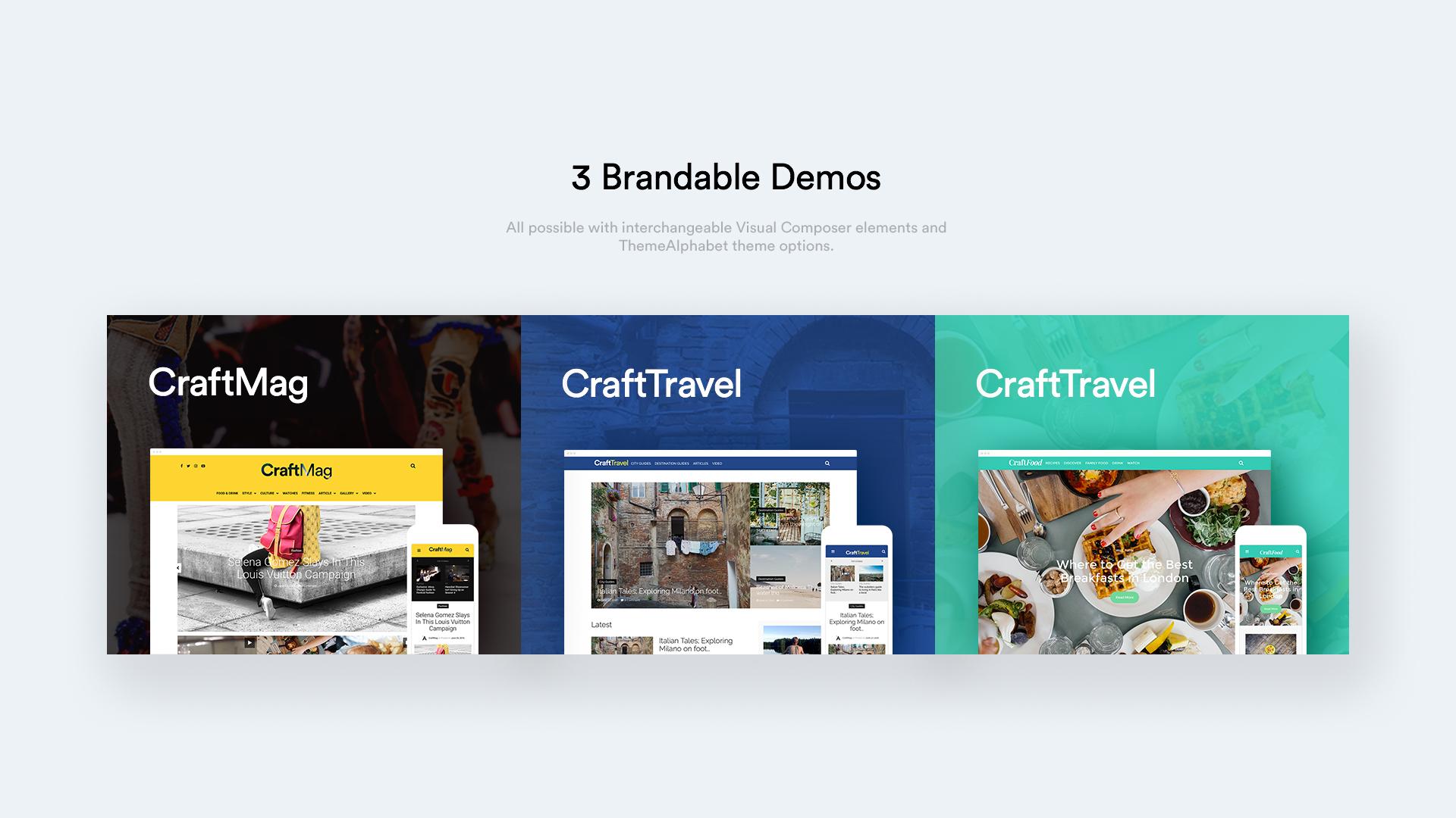 3 brandable demos